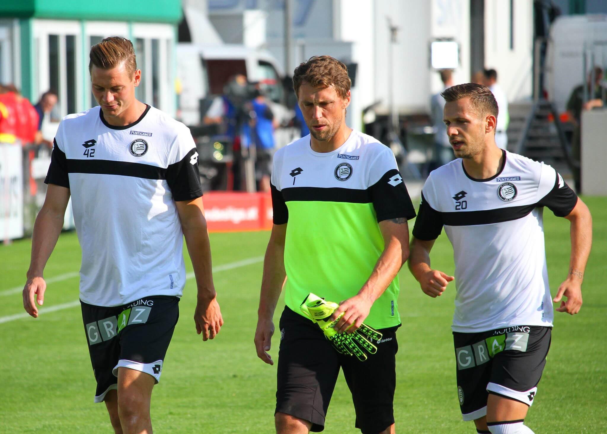 Offenbacher (re.) mit Kienast und Gratzei (Foto: SturmNetz.at)