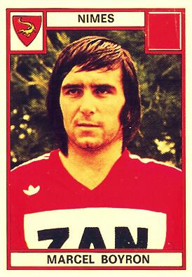 Marcel BOYRON Panini Nimes 1975-76